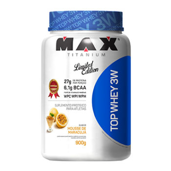 TOP WHEY 3W 900g – Morango